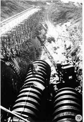 Dammbygget i Borgafjäll